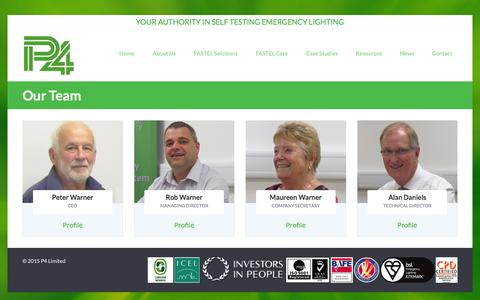 Screenshot of Team Page p4fastel.co.uk - Our Team | P4Fastel - captured Dec. 5, 2015