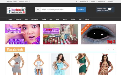 Screenshot of Home Page fingerbuying.com - Order Colour Contact Lenses Online, Australia Cheap Coloured Contacts Online Store,Halloween Contacts,Color Contact Lenses and Crazy Contact Lense - captured Nov. 13, 2016