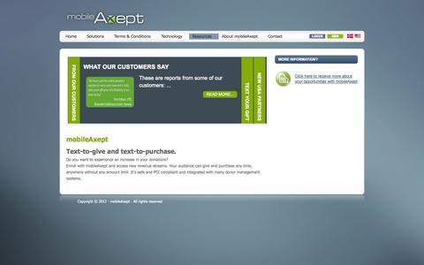 Screenshot of Press Page mobileaxept.com - News - captured Oct. 9, 2014