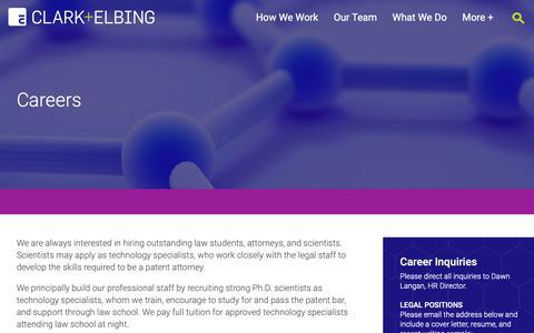 Screenshot of Jobs Page clarkelbing.com - Careers - Clark+Elbing - captured Sept. 28, 2018