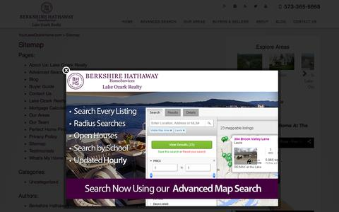 Screenshot of Site Map Page yourlakeozarkhome.com - Sitemap - YourLakeOzarkHome.com - captured Feb. 13, 2016