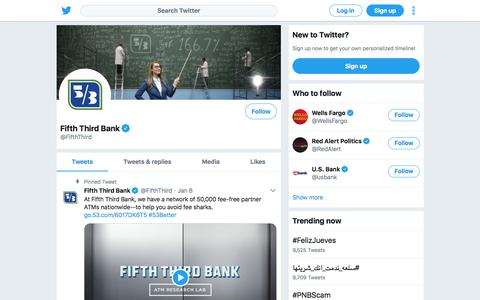 Tweets by Fifth Third Bank (@FifthThird) – Twitter