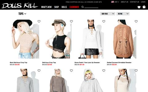 Tops Sale | Dolls Kill