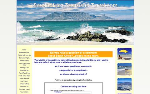 Screenshot of Privacy Page south-africa-tours-and-travel.com - Contact South Africa Tours and Travel - captured Jan. 16, 2016
