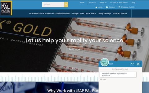 Screenshot of Home Page palparts.com - Home - LEAP PAL Parts - captured Nov. 9, 2018