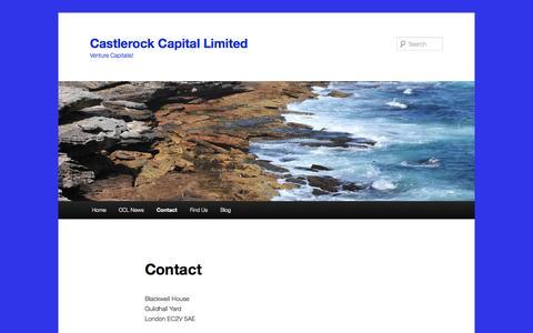 Screenshot of Contact Page castlerock-capital.com - Contact | Castlerock Capital Limited - captured Oct. 2, 2014