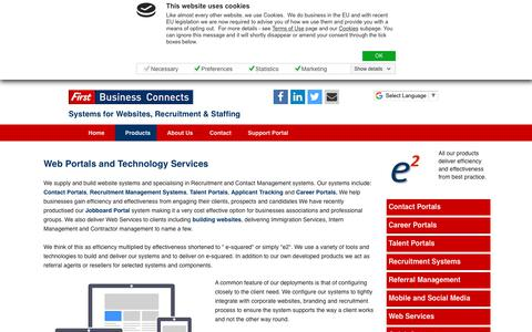 Screenshot of Services Page firstbusinessconnects.com - FBC Products and Services - captured Aug. 13, 2018
