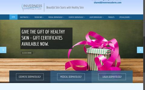 Screenshot of Home Page invernessderm.com - Cosmetic Dermatologist Birmingham AL - Inverness Dermatology and Laser - captured Feb. 11, 2016