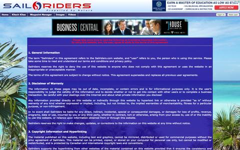 Screenshot of Terms Page sailriders.com - End User Agreement -- Sailriders - captured Sept. 30, 2014