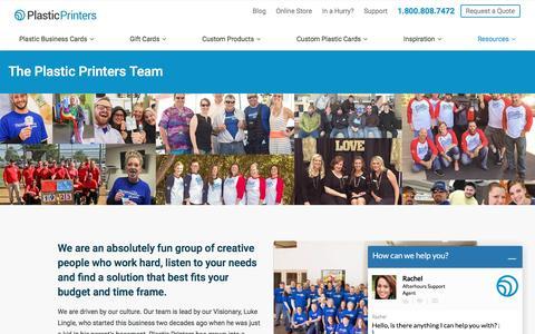 Screenshot of Team Page plasticprinters.com - Our Team | Plastic Printers, Inc - captured Aug. 28, 2016