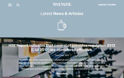 Screenshot of Press Page riverside-es.com - News - Riverside Environmental - captured Oct. 18, 2018