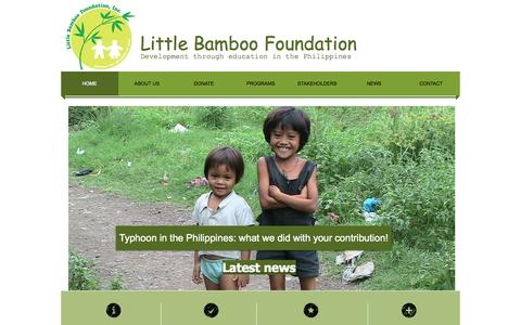 Screenshot of Home Page littlebamboo.info - Little Bamboo Foundation - captured Oct. 3, 2014