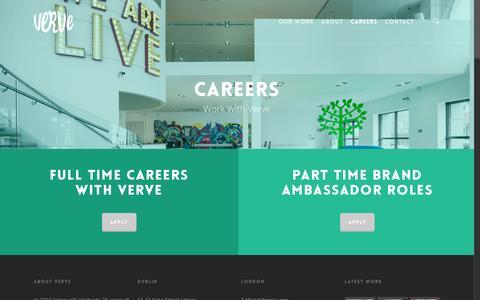 Screenshot of Jobs Page verve.ie - Careers | Verve - captured Feb. 27, 2016
