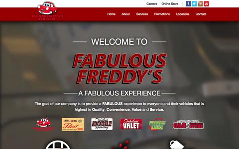 Screenshot of Home Page fabfred.com - Car Wash and Vehicle Service | Fabulous Freddy's | (702) 933-5374 - captured Oct. 5, 2014