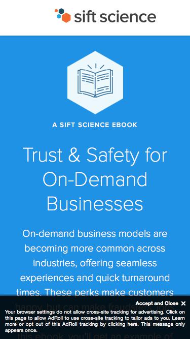 Trust and Safety for On-Demand Businesses