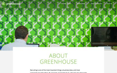 Screenshot of About Page greenhouse.io - About Us | Greenhouse - captured Sept. 16, 2014