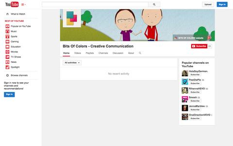 Screenshot of YouTube Page youtube.com - Bits Of Colors - Creative Communication  - YouTube - captured Oct. 23, 2014