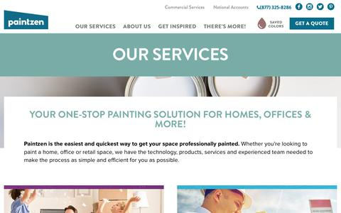 Screenshot of Services Page paintzen.com - Residential and Commercial Painting Services - Paintzen - captured June 2, 2017