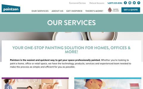 Screenshot of Services Page paintzen.com - Residential and Commercial Painting Services - Paintzen - captured June 2, 2017