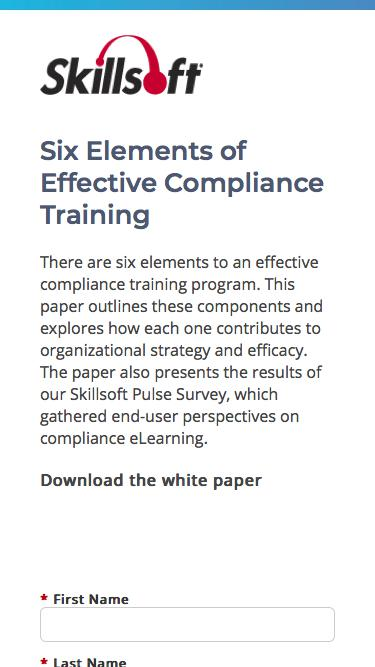 Six Elements of Effective Compliance Training