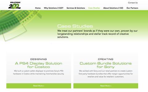 Screenshot of Case Studies Page solutions2go.com - Case Studies | - captured Feb. 21, 2016