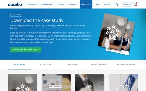 Screenshot of Case Studies Page docebo.com - Docebo E-Learning platforms case study and business case - captured March 24, 2017