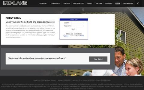 Screenshot of Login Page demlang.com - Login - - captured Nov. 24, 2016
