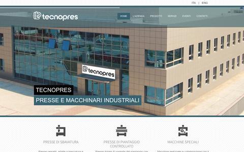 Screenshot of Home Page tecnopres.it - HOME   presse idrauliche, oleodinamiche e piegatrici   Tecnopres - captured Oct. 1, 2014