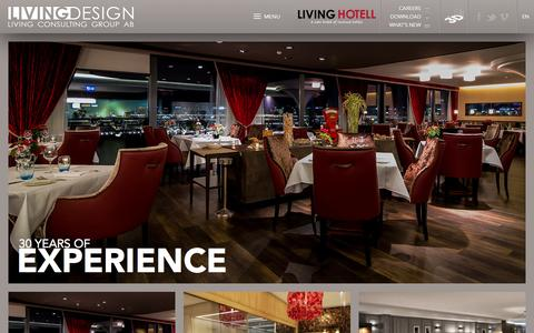 Screenshot of Home Page livingdesign.com - Living Design - captured Jan. 31, 2016