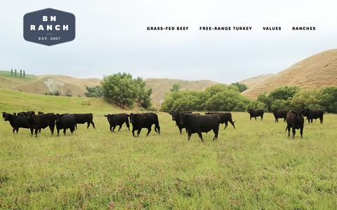Screenshot of Home Page bnranch.com - BN Ranch - captured Jan. 31, 2018