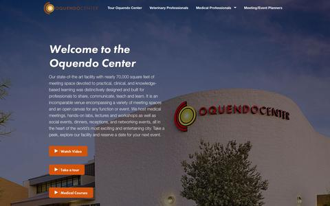 Screenshot of Home Page oquendocenter.org - The Oquendo Center - captured Sept. 21, 2018