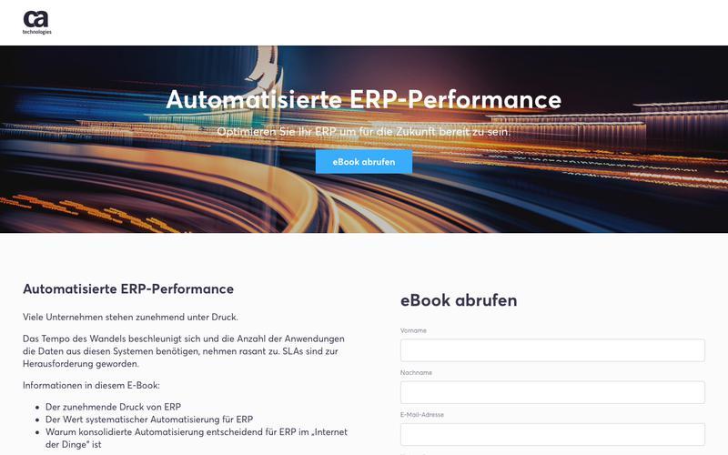 Automatisierte ERP-Performance - CA Technologies - Deutschland, Österreich, Schweiz