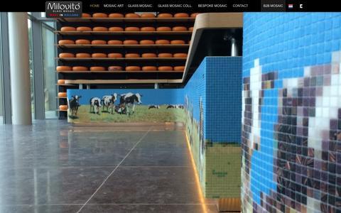Screenshot of Home Page milovito.com - Mosaic specialist Milovito for all your mosaic designs - Milovito glasmozaïek - captured Sept. 5, 2015