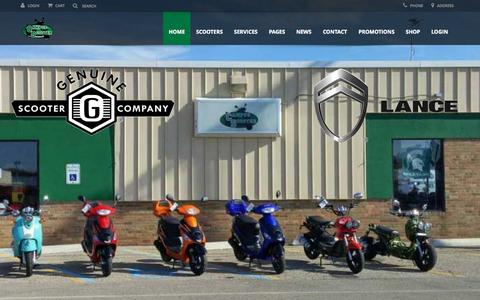 Screenshot of Home Page campus-scooter.com - Campus Scooter - captured Oct. 2, 2015