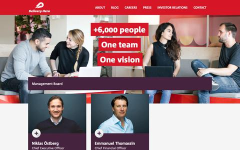 Screenshot of Team Page deliveryhero.com - Team | Delivery Hero : Delivery Hero - Always delivering an amazing experience. - captured June 19, 2019