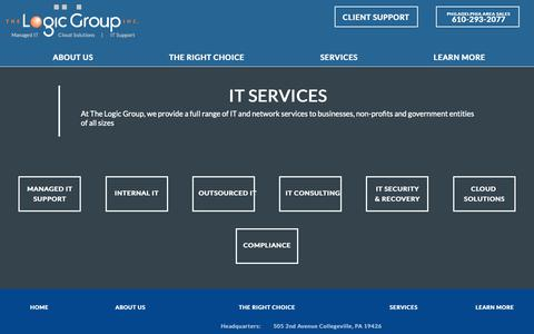 Screenshot of Services Page thelogicgroup.com - IT Services | The Logic Group, Inc. - captured Oct. 20, 2018