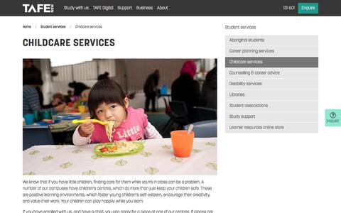 Childcare Services - Course and Study - TAFE NSW