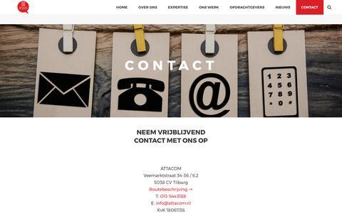 Screenshot of Contact Page attacom.nl - Contact - Attacom - captured Oct. 9, 2017