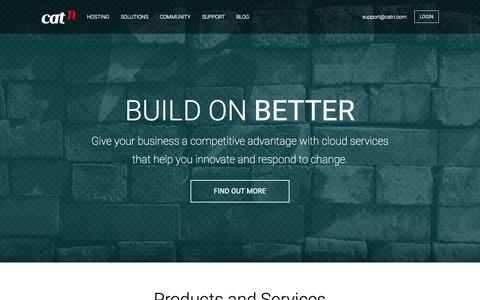 Screenshot of Home Page catn.com - CatN: Enterprise private cloud hosting, powered by OpenStack. - captured Jan. 18, 2015