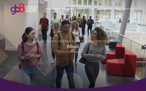 Screenshot of About Page gb8.co.uk - About - GB8 - Specialists in International Student Recruitment - captured Dec. 13, 2018