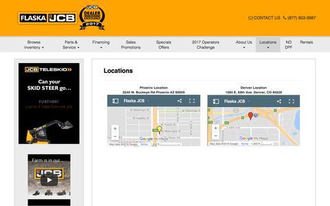 Screenshot of Locations Page flaskajcb.com - Locations | flaskajcb.com - captured July 9, 2018