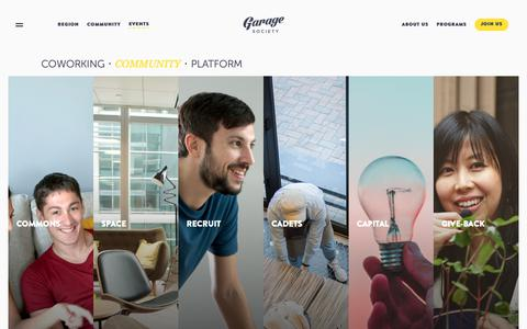 Screenshot of About Page thegaragesociety.com - | Garage Society | Co working Space | Shared Office in Hong Kong - captured May 16, 2019