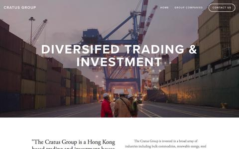 Screenshot of Home Page cratus.com.au - Cratus Group - captured Feb. 1, 2016