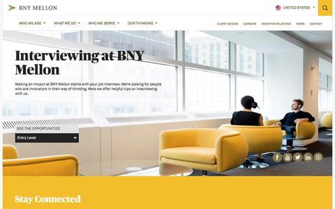Screenshot of Jobs Page bnymellon.com - Interviewing   BNY Mellon - captured Sept. 30, 2017
