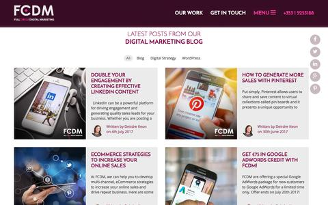 Screenshot of Blog fcdm.ie - Web Design Dublin | WordPress Website Design Dublin | Digital Marketing - captured July 4, 2017