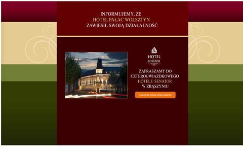 Screenshot of Home Page palacwolsztyn.pl - Palac Wolsztyn - captured Oct. 11, 2015