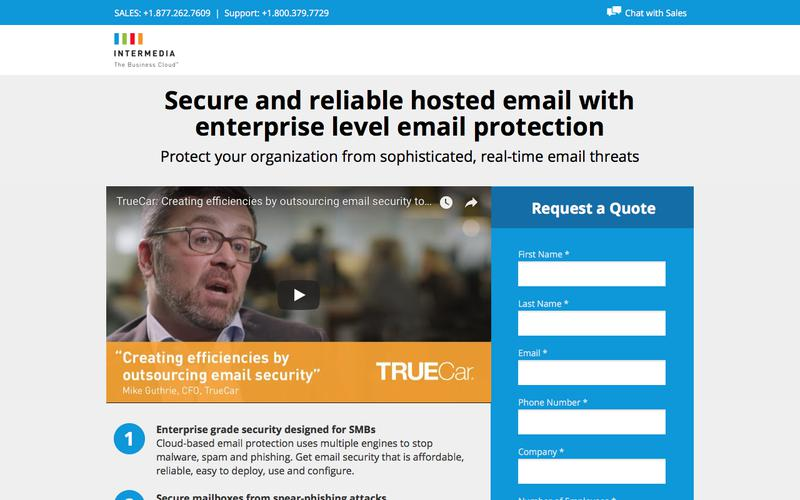 Secure and reliable hosted email with enterprise level email protection