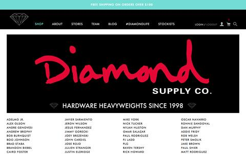Screenshot of Team Page diamondsupplyco.com - Team / Diamond Supply Co. - captured Dec. 26, 2015