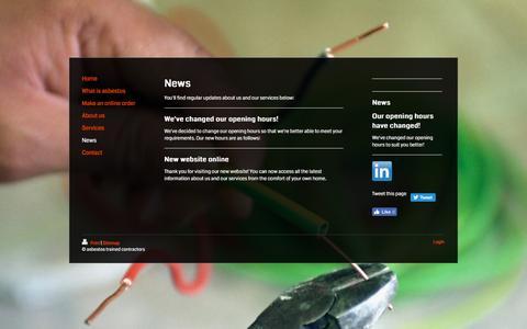 Screenshot of Press Page asbestostrainedcontractors.co.uk - asbestos trained contractors - captured May 30, 2017