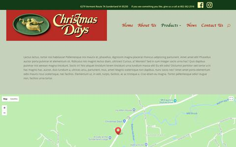 Screenshot of Products Page xmasdays.com - Products - Christmas Days - captured July 2, 2018